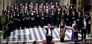 Performing in St Giles' Cripplegate