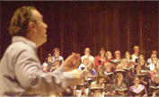 Mark Elder rehearsing the Choir