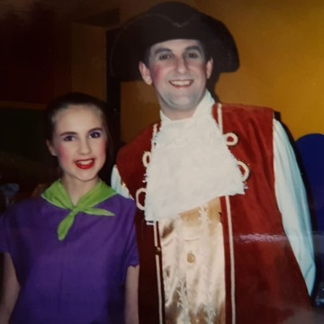 Emma in a production with her Dad